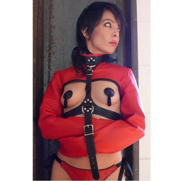 BDSM (БДСМ) - Красный бондаж-жакет