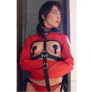 Красный бондаж-жакет