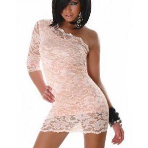 Нежное розовое кружевное платье - Платья