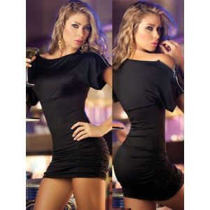 Retro mini dress with zipper