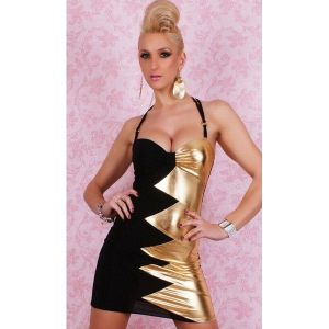 Black and gold club dress