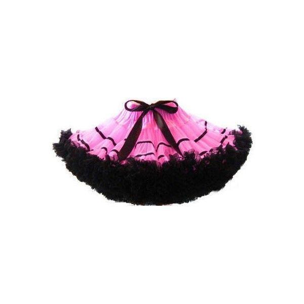 Черно-розовая тюлевая юбочка