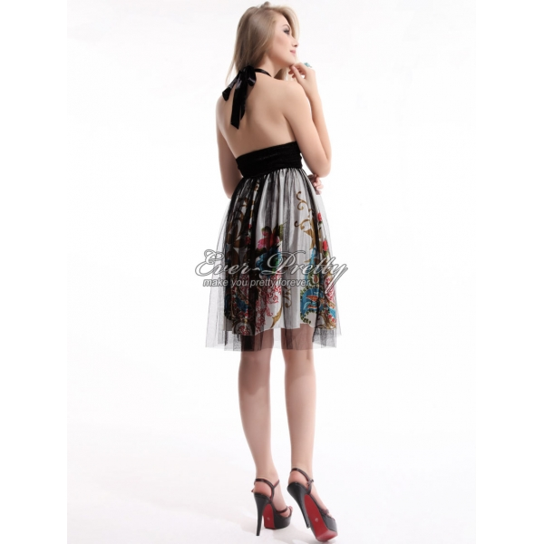 Sexy cocktail dress with a print. Артикул: IXI14754