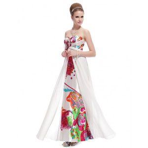 Evening long dress with print. Артикул: IXI14792