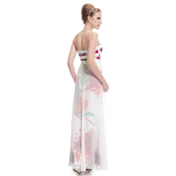 SALE! Evening long dress with print. Артикул: IXI14792