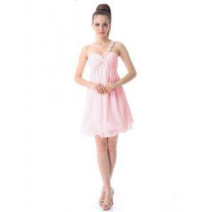 РАСПРОДАЖА! Платье из розового шифона