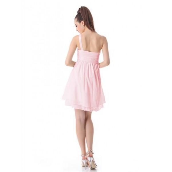 Dress of pink chiffon. Артикул: IXI14793
