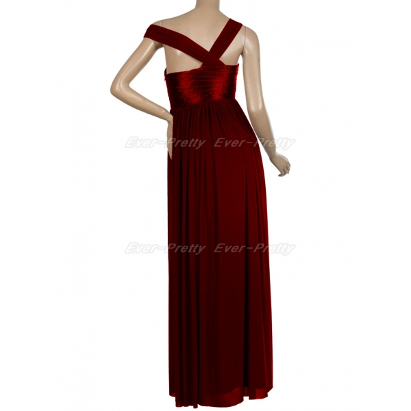 SALE! Bright red evening long dress one-shoulder. Артикул: IXI14799
