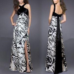 Evening long dress with crisscross straps, open back. Артикул: IXI14802