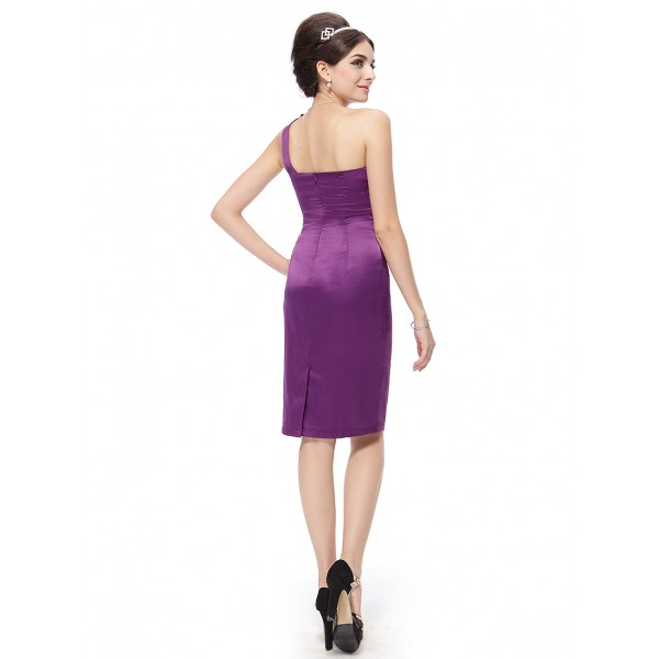 Cocktail short dress with ruffles down the front and shoulder. Артикул: IXI14824