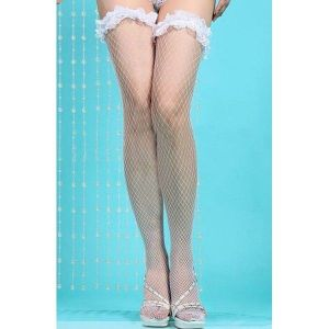 White stockings with ruffles
