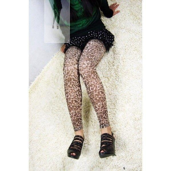 Леопардовые леггинсы длиные