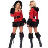 Бархатный костюм рождественской тематики по оптовой цене