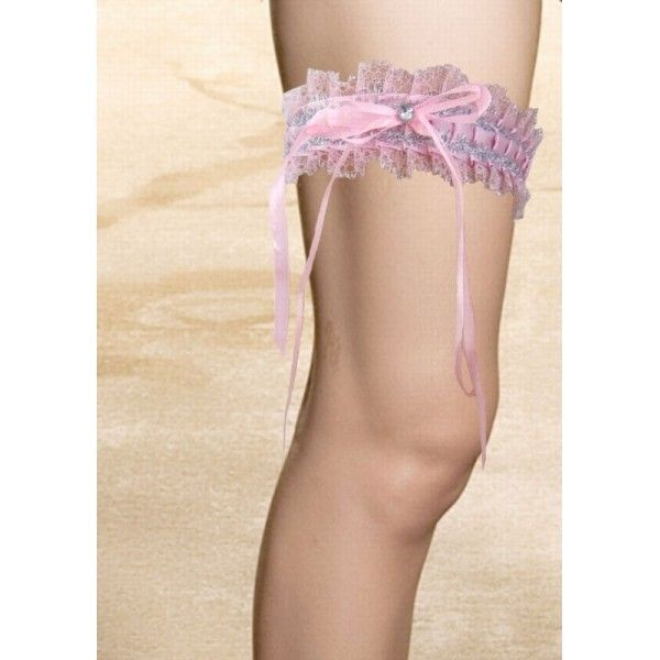 Розовая сатиновая повязка