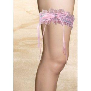 Розовая сатиновая повязка - Чулки