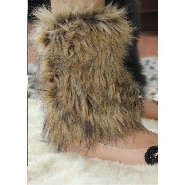 SALE! Short fur leg warmers
