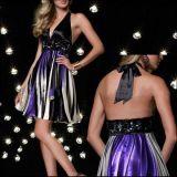 РАСПРОДАЖА! Коктейльное платье с ярким принтом и открытой спиной по оптовой цене