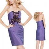 РАСПРОДАЖА! Изысканное фиолетовое платье по оптовой цене