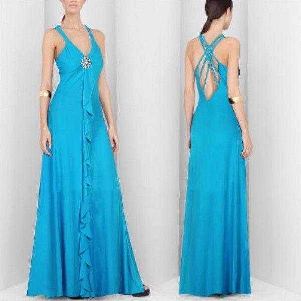 Элегантное голубое платье