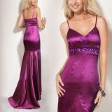 Elegant evening dress purple