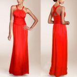Sexy red evening dress