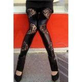 Leggings with lace panels