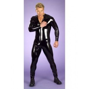 Vinyl mens jumpsuit