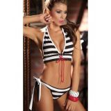 Sailor swimsuit with red lacing
