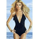 Classic one-piece swimsuit with fringe
