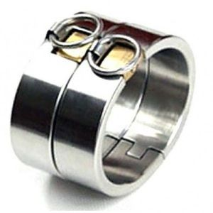 Steel oval cuffs for men and women