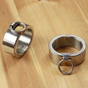 Steel handcuffs elliptical shape for men and women