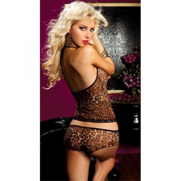 Leopard set: tank top and panties. Артикул: IXI15633