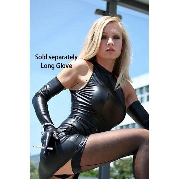 Купить онлайн Виниловое боди с перчатками фото цена акция распродажа