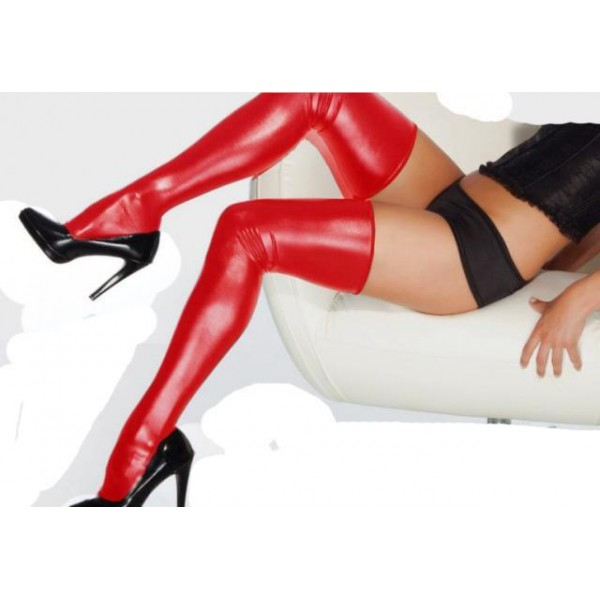 Vinyl red stockings. Артикул: IXI15716