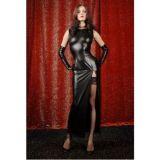 Long vinyl dress