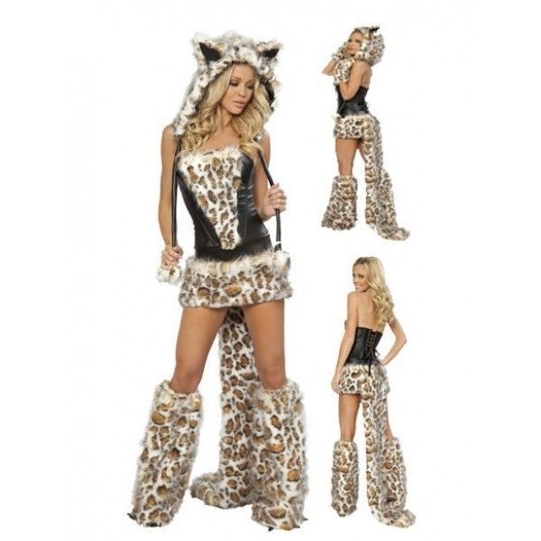 Костюм грациозной Леопард девушки