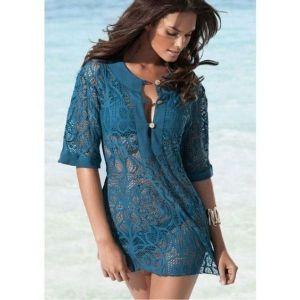 Роскошная вязаная блуза - Пляжная одежда