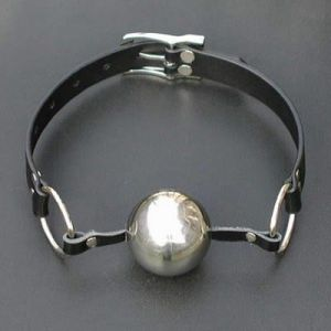 Steel ball gag for the mouth