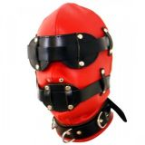 Black-and-red mask
