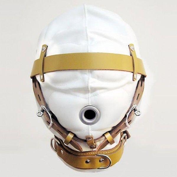 Бело-бежевая маска