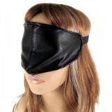 Черная повязка на глаза закрытая