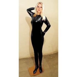 Черный костюм для мужчин и женщин закрытый - Одежда (латекс, винил)