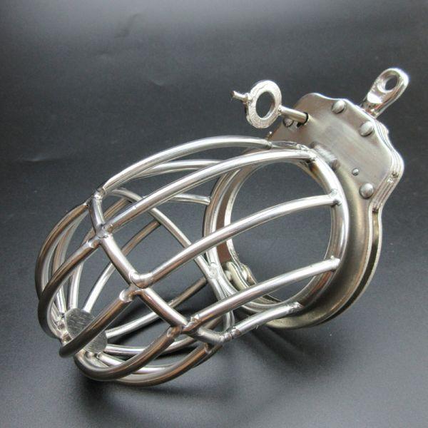 BDSM (БДСМ) - <? print Серебристый пояс целомудрия с наручником; ?>