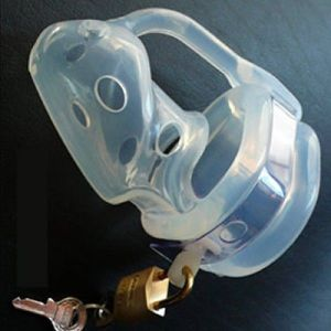 Transparent silicone chastity device