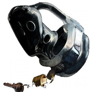 Black chastity device black color
