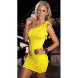 РАСПРОДАЖА! Желтое платье на одной плече по оптовой цене