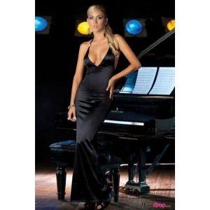 Сексуальное длинное платье с глубоким вырезом декольте - Вечерние платья