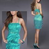 Sexy turquoise slinky dress