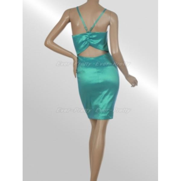 Sexy turquoise slinky dress. Артикул: IXI16071
