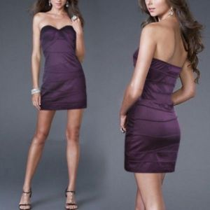 SALE! Purple strapless dress